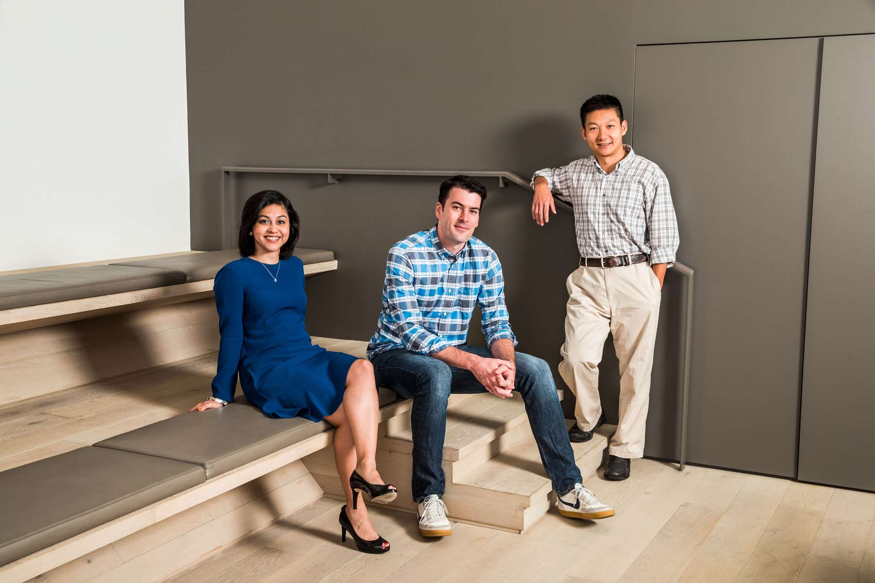 Confluent's founders Jay Kreps, Neha Narkhede and Jun Rao.