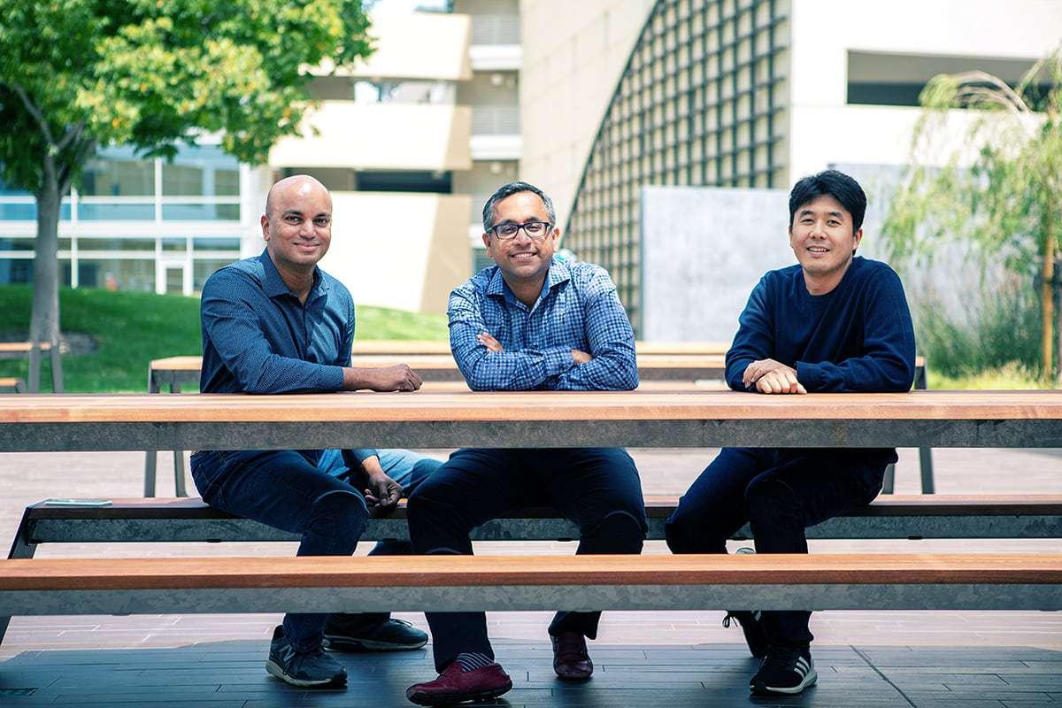 Clumio founders Poojan Kumar, Woon Ho Jung and Kaustubh Patil