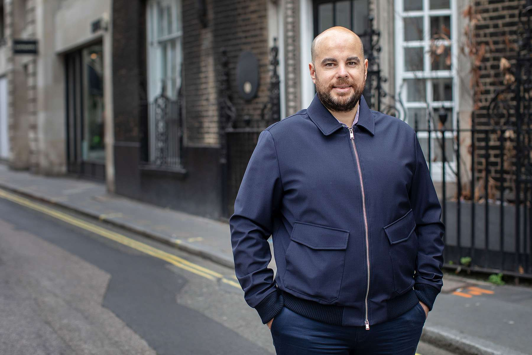 Carlos Gonzalez-Cadenas outside of Index's offices in London
