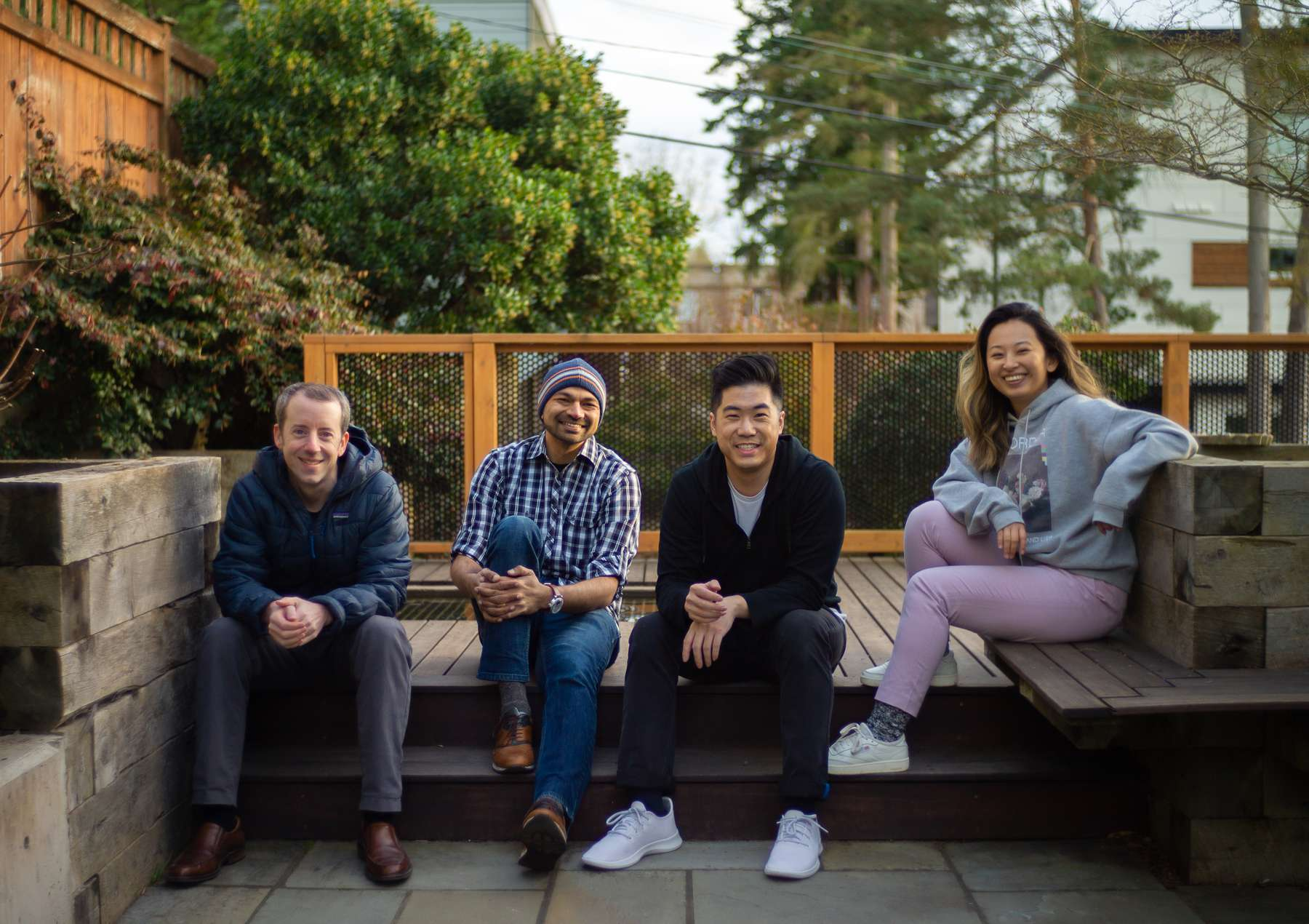 The Common Room founding team (from left to right) Tom Kleinpeter, Viraj Mody, Francis Luu, and Linda Lian