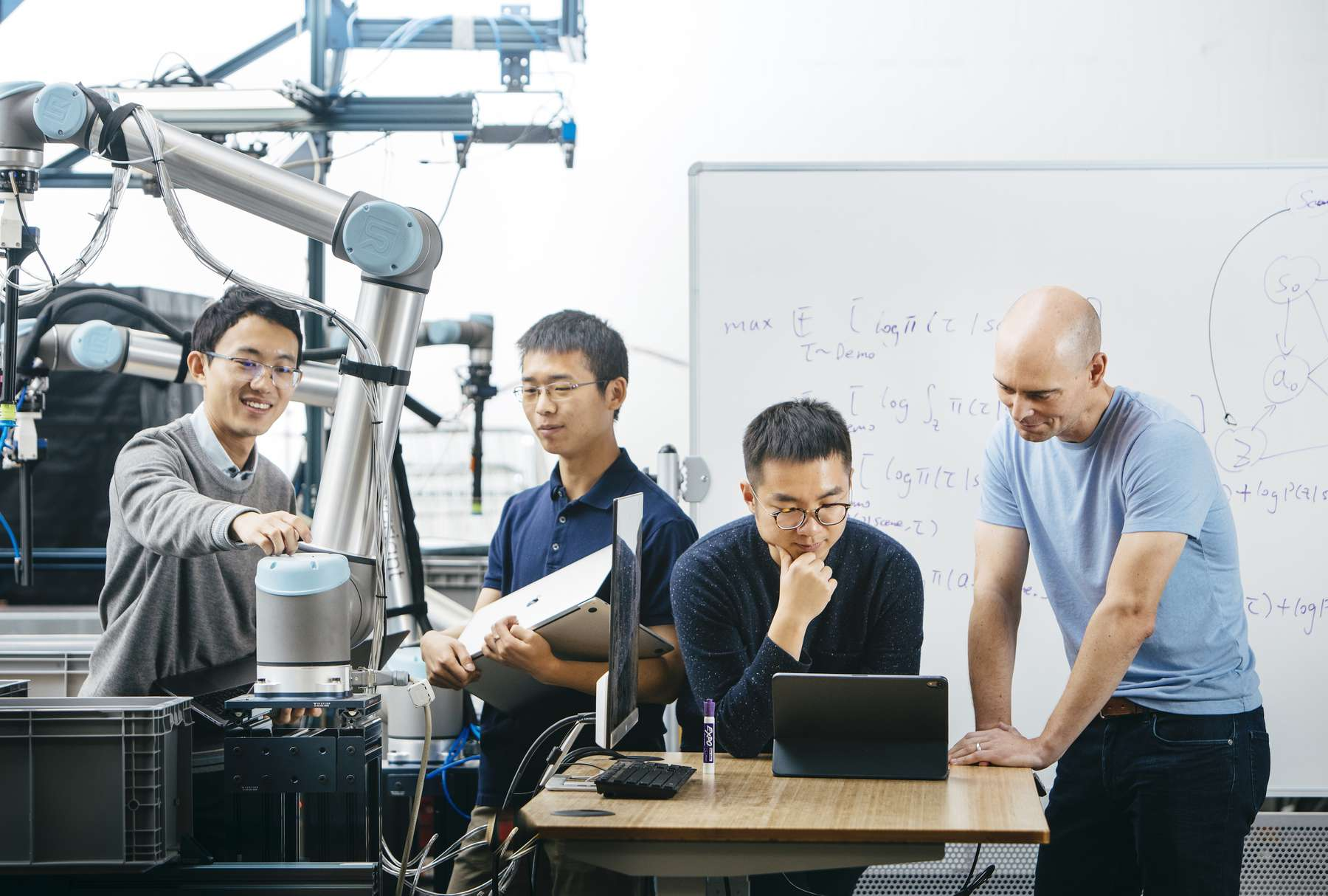 Covariant co-founders_ L-R, Tianhao Zhang, Rocky Duan, Peter Chen, Pieter Abbeel credit, Elena Zhukova (1).jpg