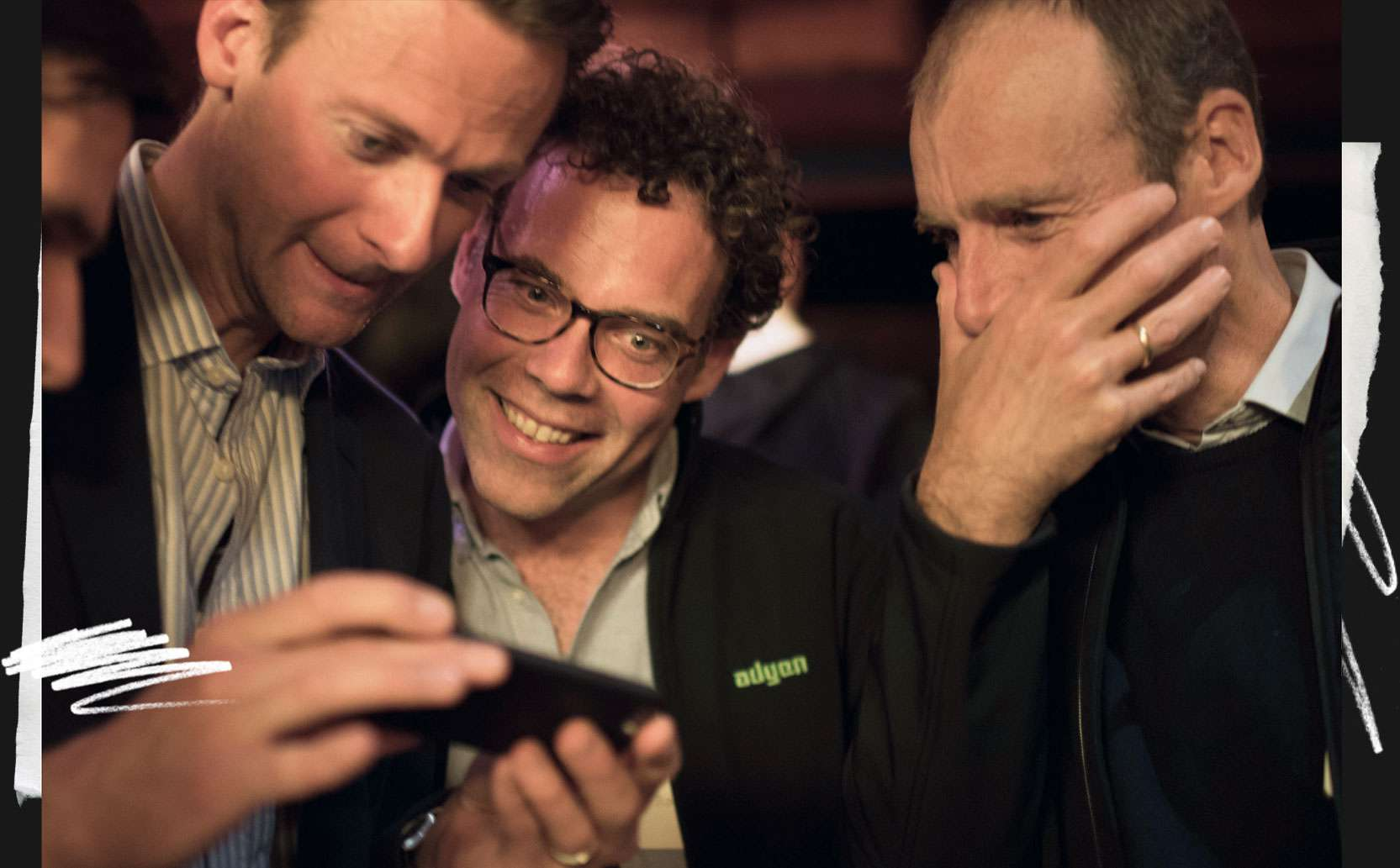 Jan Hammer of Index Ventures with Pieter van der Does and Roelant Prins of Adyen