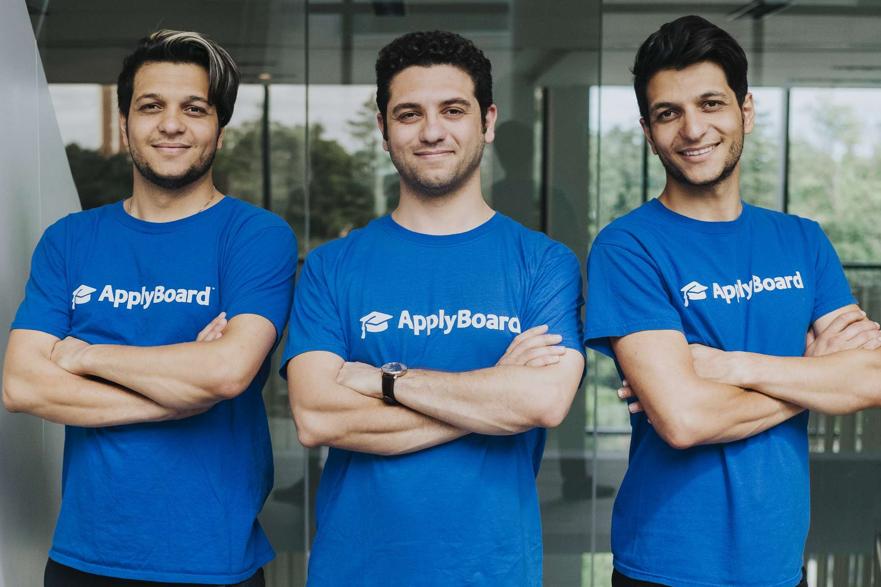 ApplyBoard co-founders Meti, Martin, and Massi Basiri