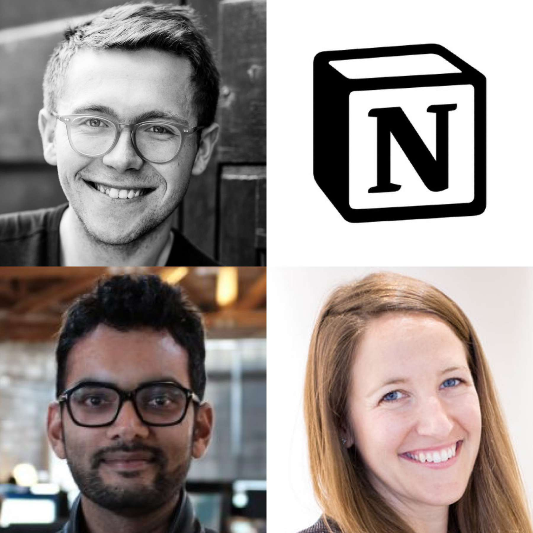 Harry Stebbings of 20VC, Akshay Kothari of Notion, and Sarah Cannon of Index Ventures