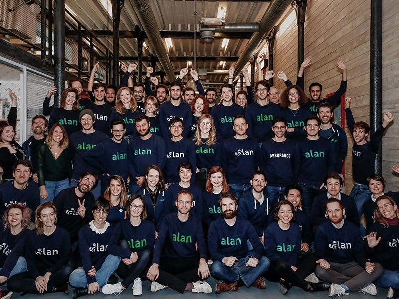 The Alan team at the Paris HQ