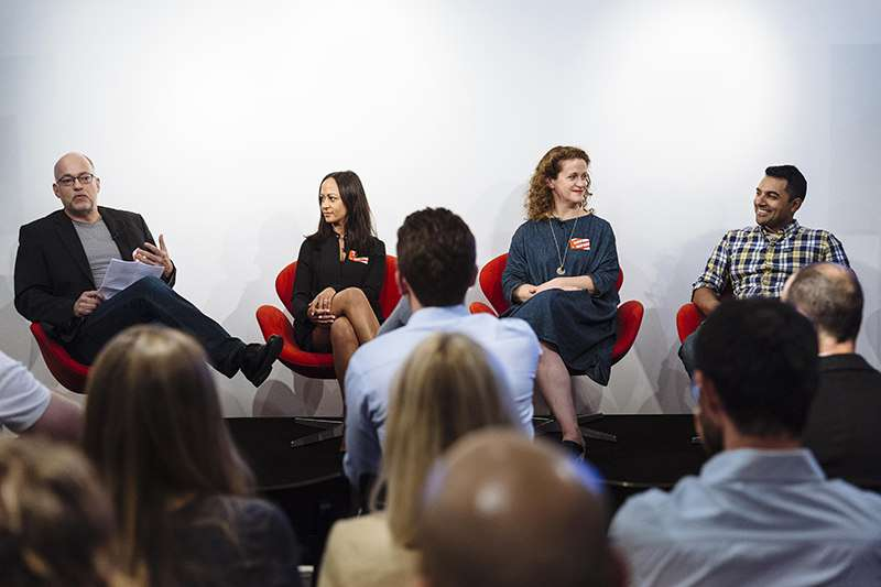 Index Conversations on Company Culture. Ludwig Siegele from the Economist moderates a discussion with Sian Keane, VP of Talent & People at Farfetch, Nicole Vanderbilt, VP of International at Etsy and Nilan Peiris, VP of Growth at TransferWise
