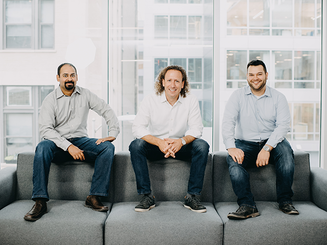 Expel founders (from left to right): Yanek Korff, Dave Merkel and Justin Bajko