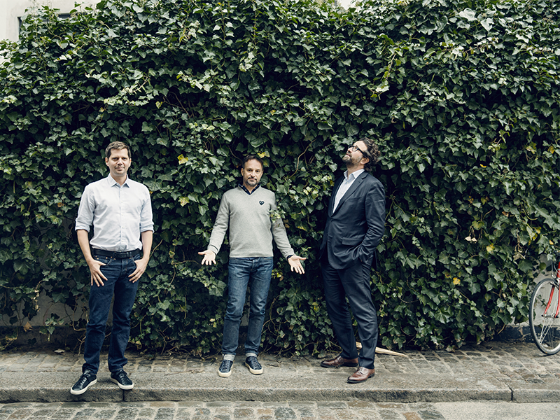 Zendesk co-founders in front of their Copenhagen office