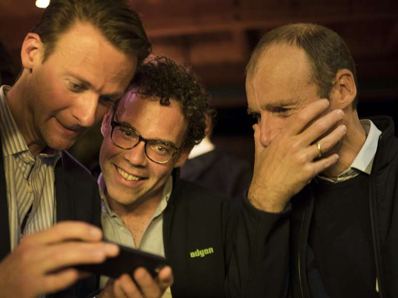 Index's Jan Hammer with Pieter (Adyen's CEO) and Roelant (Adyen's CCO) at Index Ventures annual event for CEOs and founders