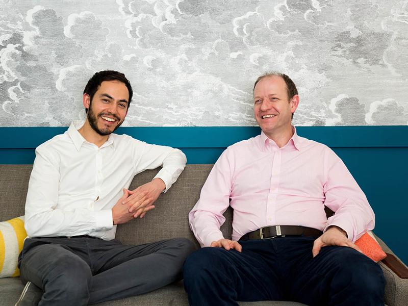 Daniel Gandesha, CEO & Founder with Robert Weaver, Director of Property