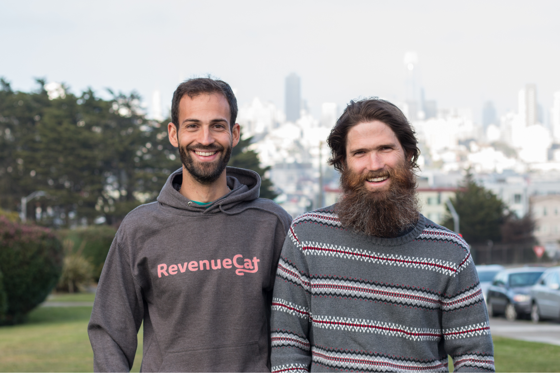 The Co-founders of RevenueCat: Miguel Carranza (left) and Jacob Eiting (right)