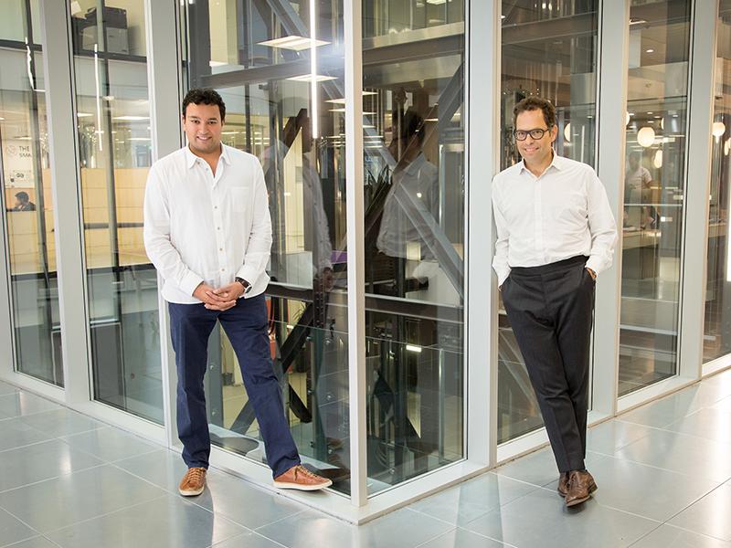 CEO of Funding Circle Samir Desai (left) with Index Ventures Partner Neil Rimer