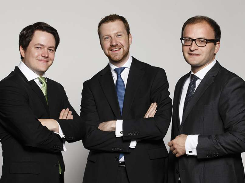 Raisin's founders Frank Freund, Michael Stephan and Tamaz Georgardze