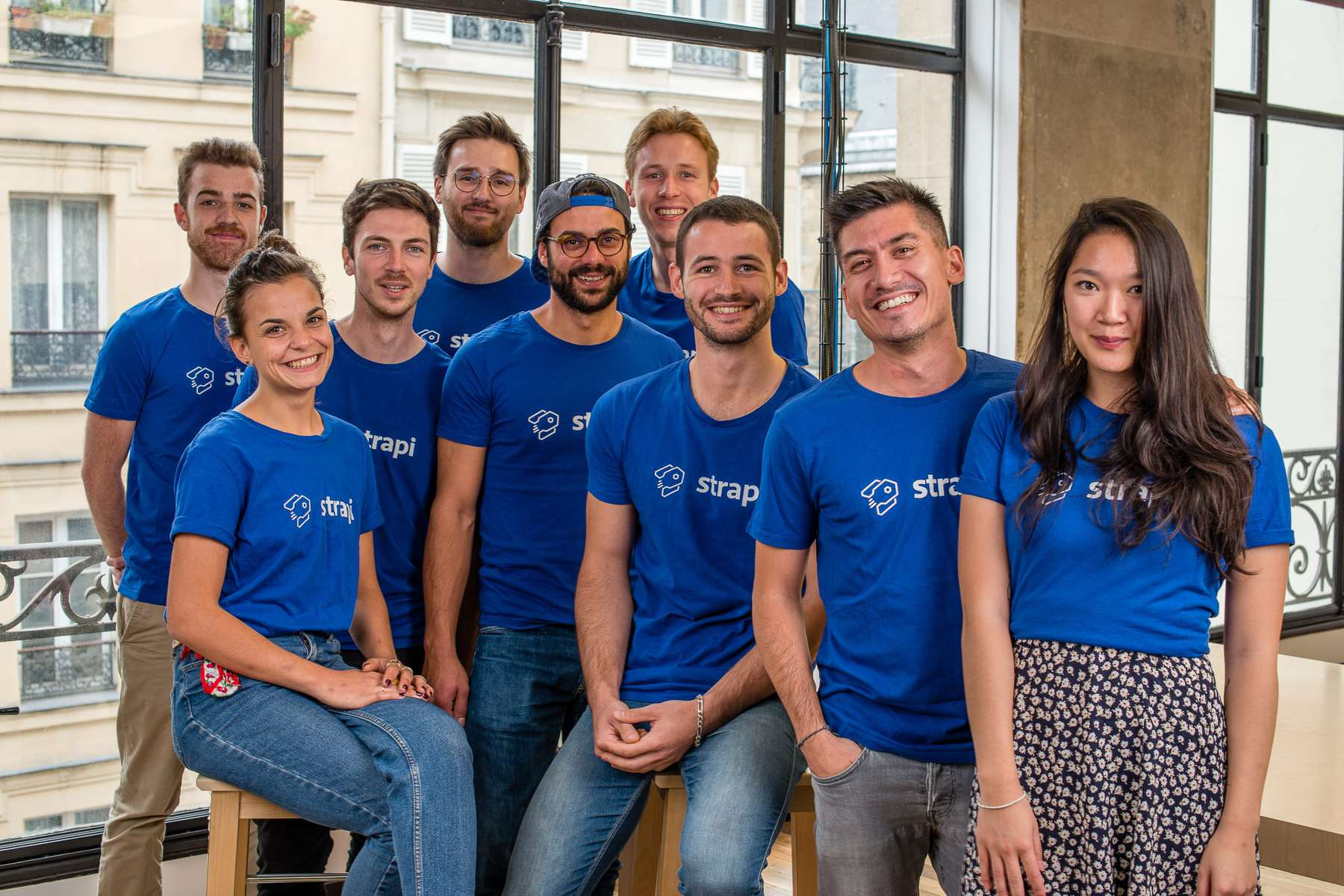 The Strapi team at their Paris office